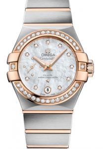 Elegant Omega Constellation Small Seconds White Dial Replica Watches