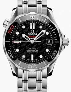 Steel Omega Seamaster Diver 300M Co-Axial Black Dial Replica Watches