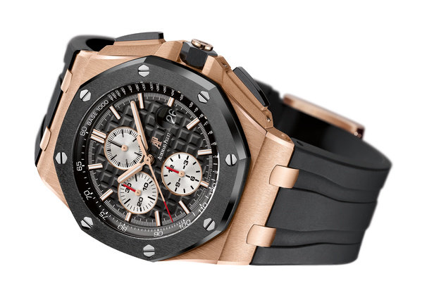 Audemars Piguet Royal Oak Offshore Pink Gold Case Black Ceramic Bezel Replica Watch (Noob)
