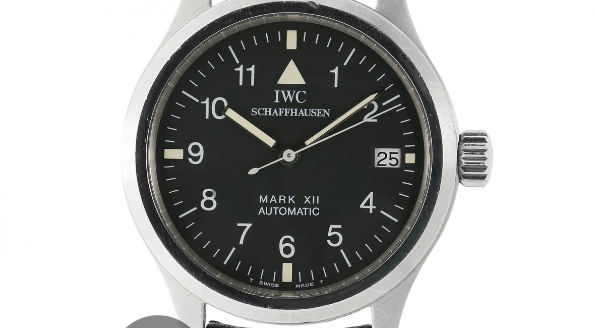 a0f472e37ca Swiss Made Replica IWC Pilot Mark Xii Steel Black Dial Watch -  59 ...