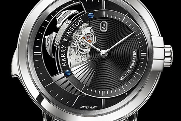 Best Harry Winston Midnight Minute Repeater White Gold Replica Watch