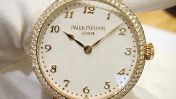 White dial patek philippe calatrava diamond bezel replica watch ref.7200/200R