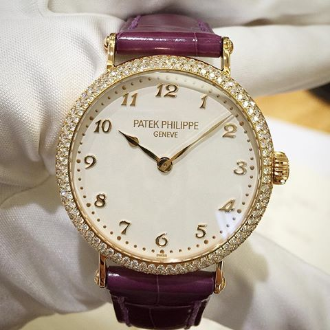 patek philippe calatrava diamond bezel replica watch