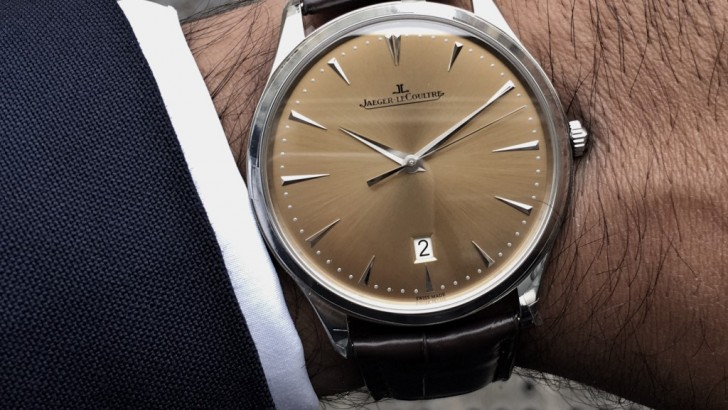 Champagne Dial Jaeger LeCoultre Master Control Ultra Thin Replica Watch