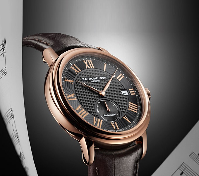 Raymond Weil Maestro Petite Seconde Or Rose