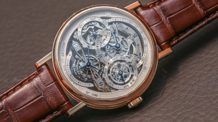 18K Rose Gold Breguet Classique Perpetual Calendar Tourbillon Replica Watch