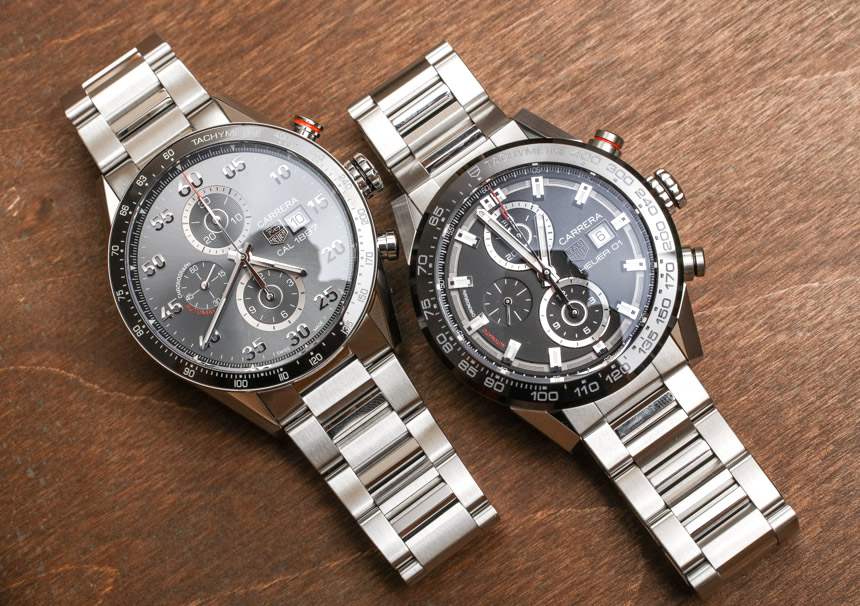 1b792b4fdafe2 TAG Heuer Carrera 1887 Automatic Chronograph Compared To Carrera Heuer 01  Watch Review Wrist Time Reviews TAG Heuer Replica