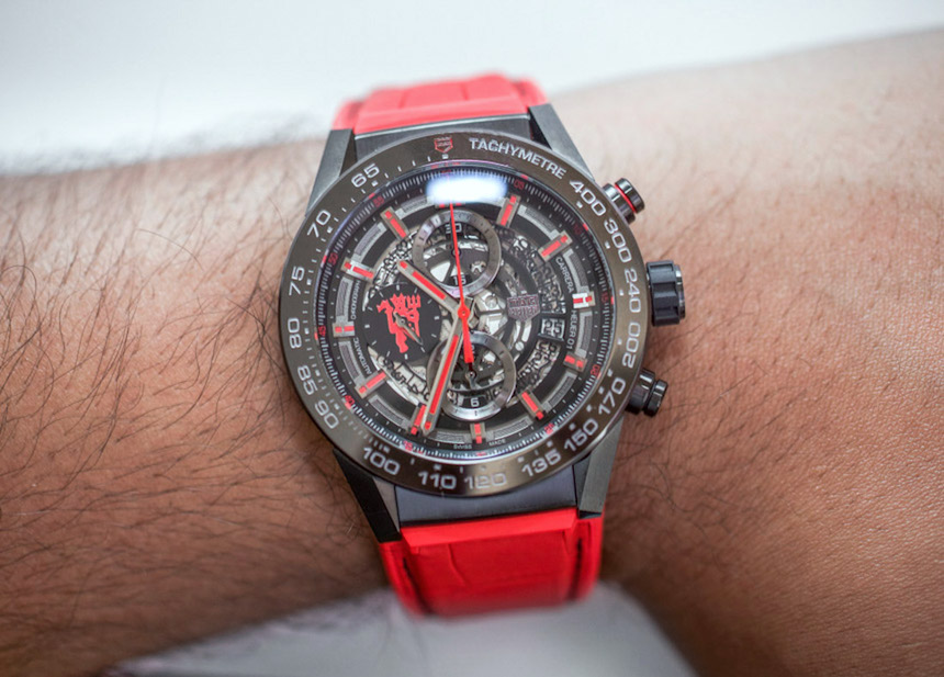 TAG Heuer Carrera Heuer 01 Manchester United Red Devil Watch Hands-On Hands-On