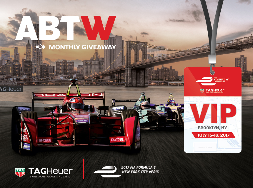 EXPERIENCE GIVEAWAY: Attend Formula E ePrix Race In New York With TAG Heuer Watches Giveaways
