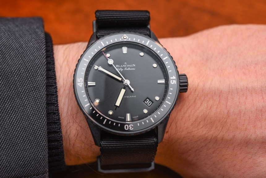 Blancpain Fifty Fathoms Bathyscaphe Watch In Ceramic For 2015 Hands-On Hands-On